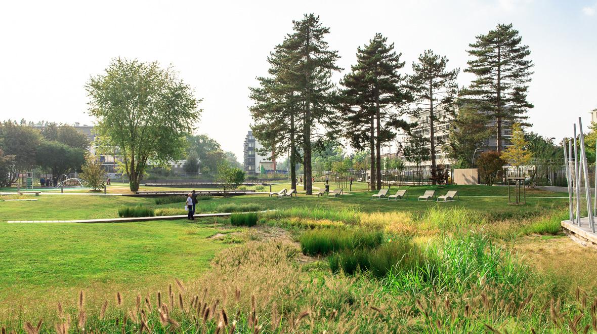 Parc du quartier du bord de l eau florence mercier for Paysagiste boulogne billancourt