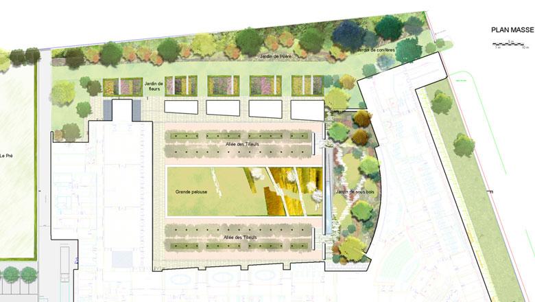 Jardin de l ambassade de france florence mercier paysagiste for Jardin en france